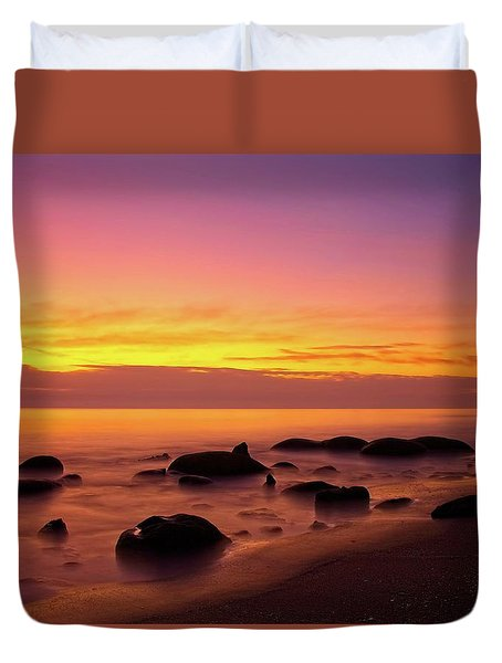 Low Tide Nautical Twilight Duvet Cover