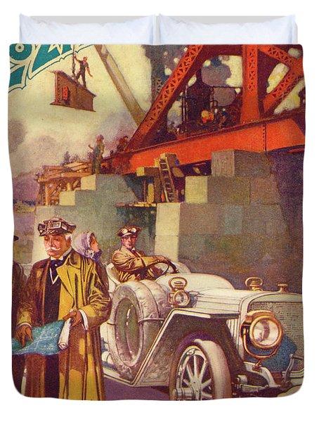 Lozier Advertisement Duvet Cover