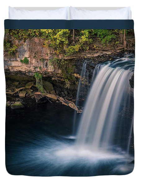 Duvet Cover featuring the photograph Ludlow Falls Ohio by Dan Sproul