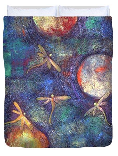 Luminous Dragonflies Duvet Cover