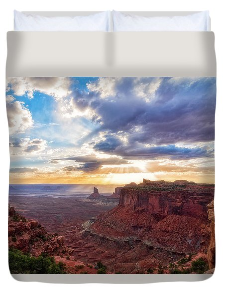 Duvet Cover featuring the photograph Luminous by Russell Pugh