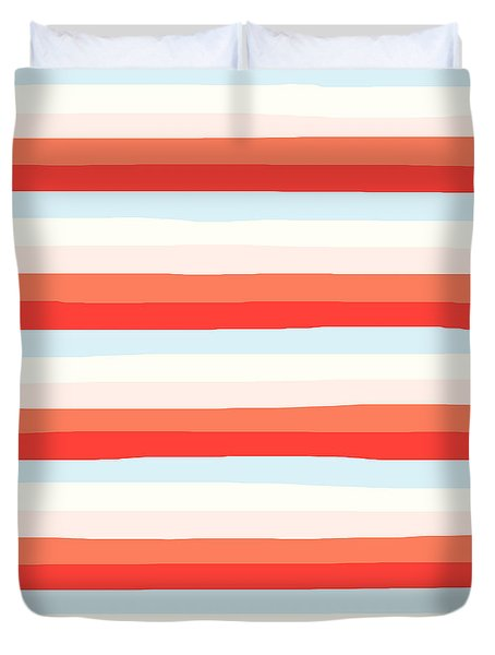 lumpy or bumpy lines abstract and colorful - QAB266 Duvet Cover