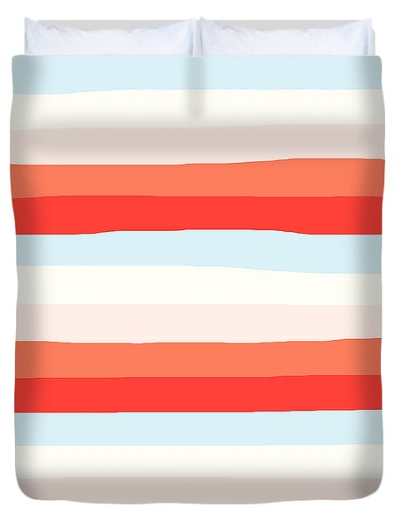 lumpy or bumpy lines abstract and colorful - QAB268 Duvet Cover