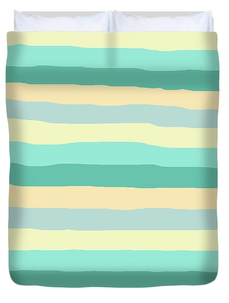lumpy or bumpy lines abstract and summer colorful - QAB271 Duvet Cover