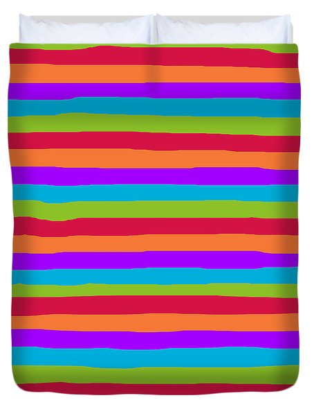 lumpy or bumpy lines abstract and summer colorful - QAB273 Duvet Cover