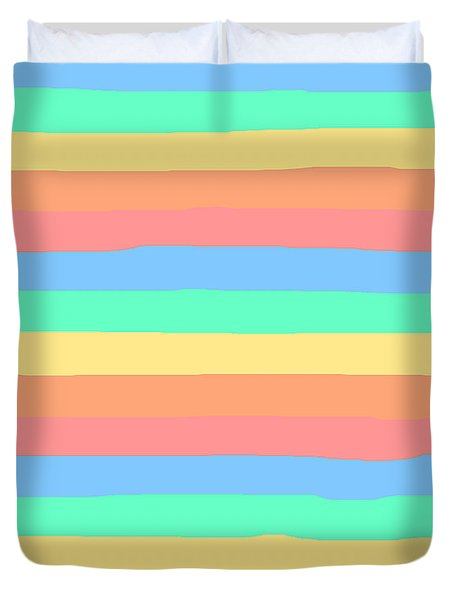lumpy or bumpy lines abstract and summer colorful - QAB275 Duvet Cover