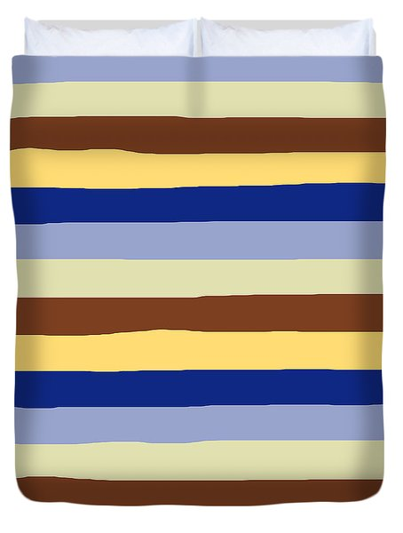 lumpy or bumpy lines abstract and summer colorful - QAB277 Duvet Cover