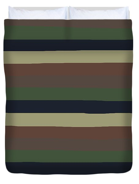 Army Color Style Lumpy Or Bumpy Lines - Qab279 Duvet Cover