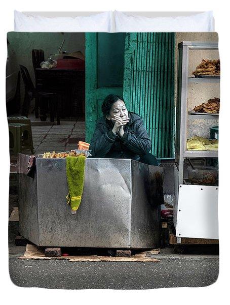 Lunch Time In Vietnam Duvet Cover