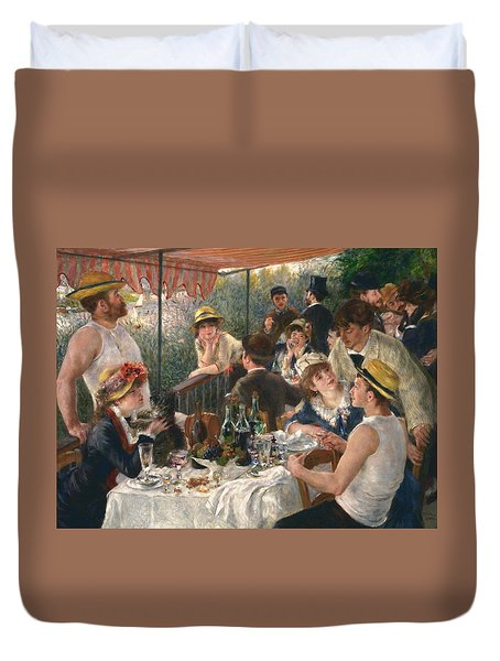 Luncheon Of The Boating Party, 1880-1881 Duvet Cover