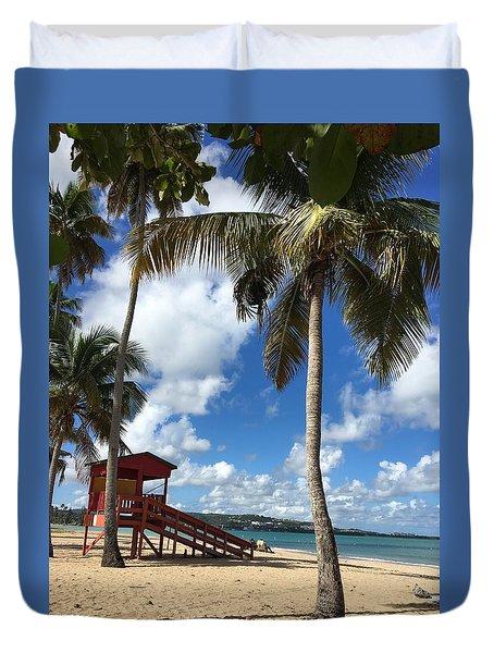 Luquillo Beach Duvet Cover