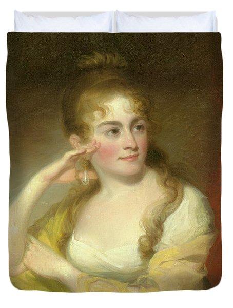 Portrait Of Lydia Leaming, 1806 Duvet Cover