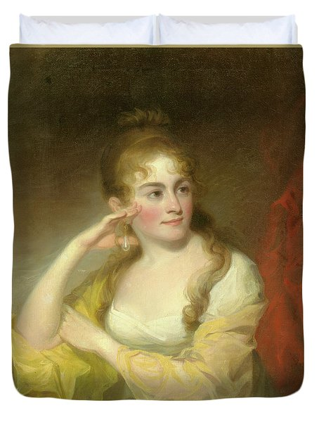 Portrait Of Lydia Leaming, 1806 Duvet Cover