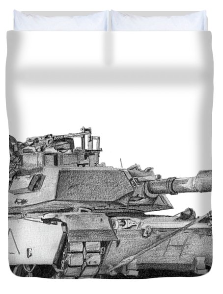 M1a1 A Company 1st Platoon Duvet Cover