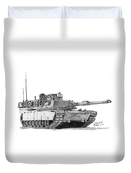 M1a1 A Company 1st Platoon Commander Duvet Cover