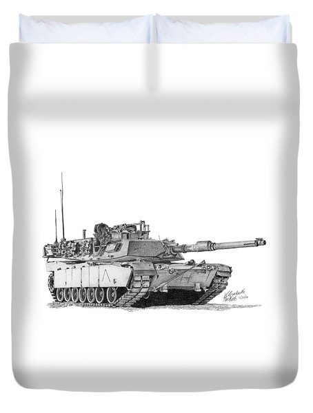 M1a1 A Company Commander Tank Duvet Cover