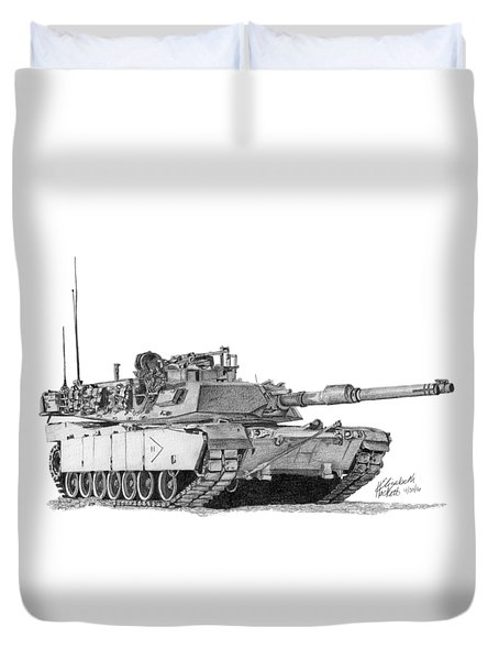 M1a1 B Company 2nd Platoon Commander Duvet Cover