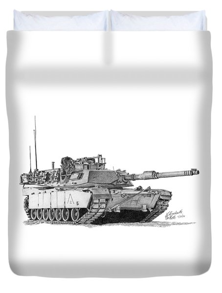 M1a1 B Company 3rd Platoon Duvet Cover