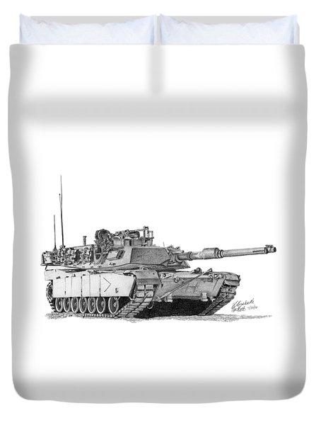 M1a1 B Company Commander Tank Duvet Cover
