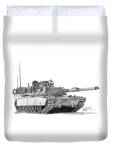 M1a1 Battalion Commander Tank Duvet Cover