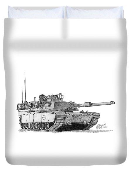 M1a1 Battalion Master Gunner Tank Duvet Cover