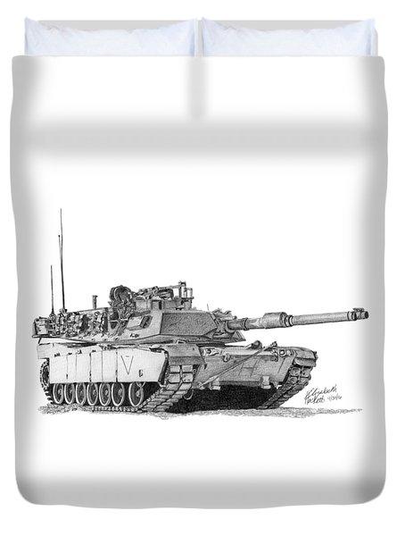 M1a1 C Company 1st Platoon Duvet Cover