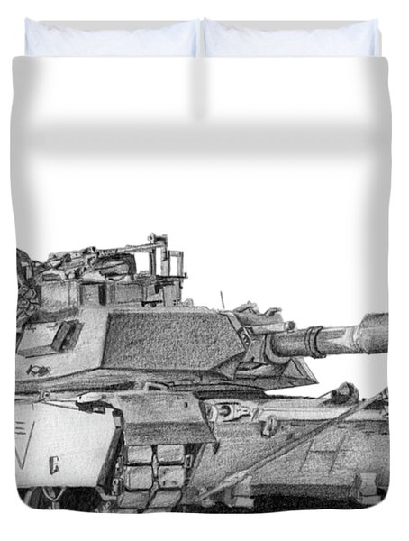 M1a1 C Company 3rd Platoon Duvet Cover