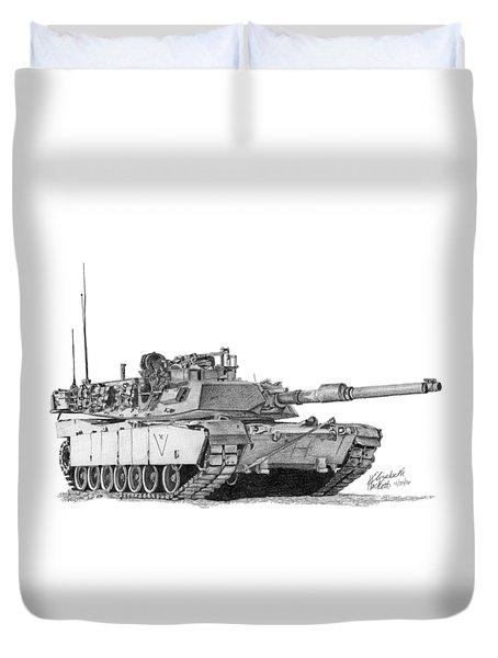 M1a1 C Company Xo Tank Duvet Cover