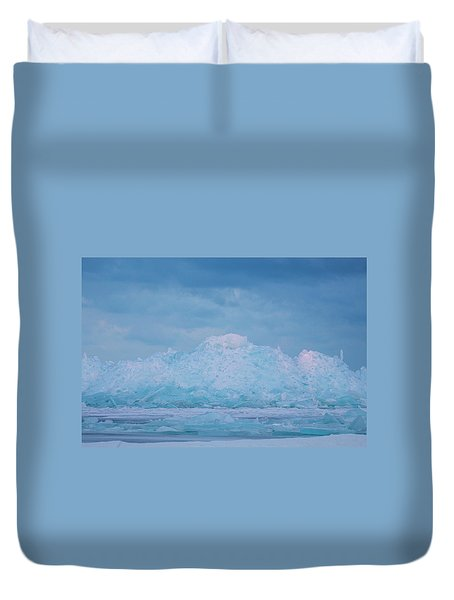 Mackinaw City Ice Formations 2161802 Duvet Cover