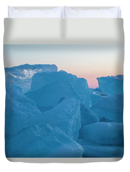 Mackinaw City Ice Formations 2161804 Duvet Cover