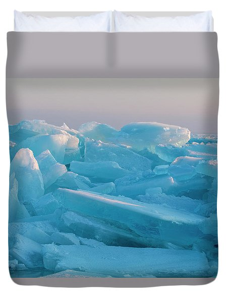 Mackinaw City Ice Formations 2161807 Duvet Cover