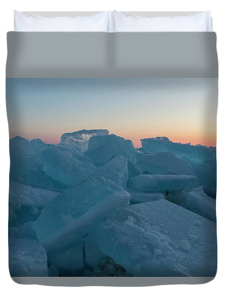 Mackinaw City Ice Formations 2161808 Duvet Cover