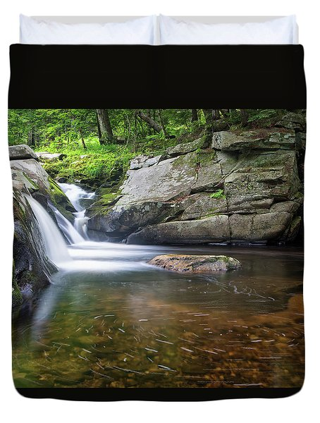 Duvet Cover featuring the photograph Mad River Falls by Nathan Bush