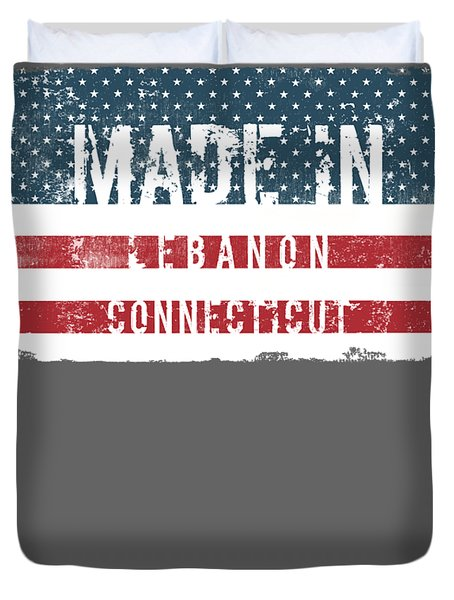 Made In Lebanon, Connecticut Duvet Cover