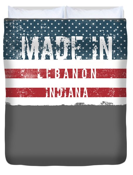 Made In Lebanon, Indiana Duvet Cover by Tinto Designs