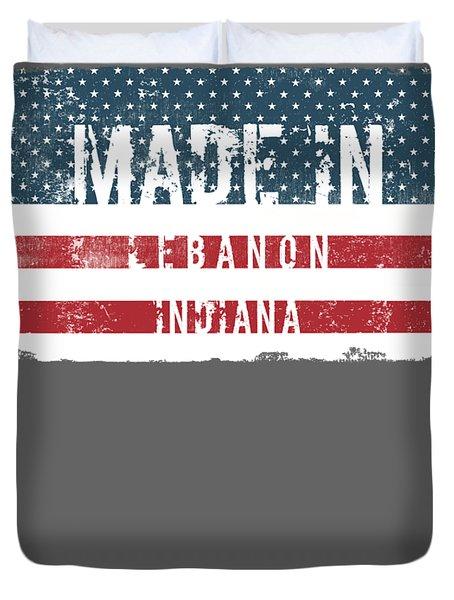 Made In Lebanon, Indiana Duvet Cover