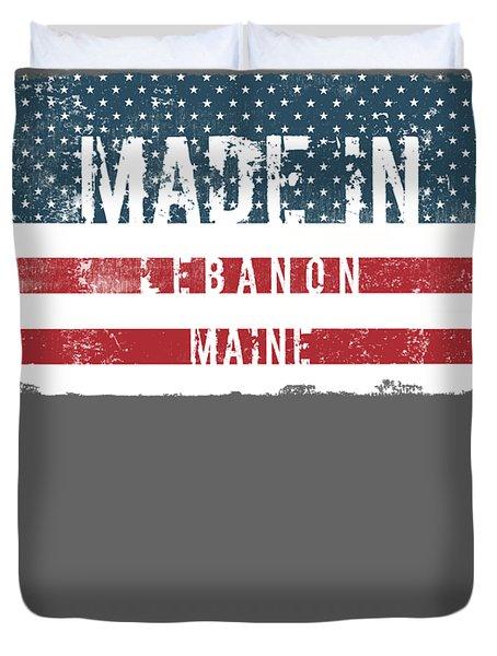 Made In Lebanon, Maine Duvet Cover