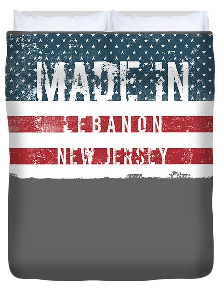 Made In Lebanon, New Jersey Duvet Cover by Tinto Designs