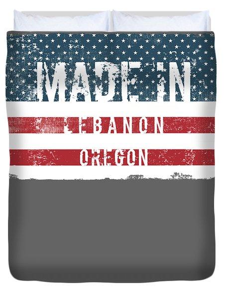 Made In Lebanon, Oregon Duvet Cover
