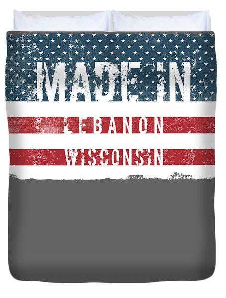 Made In Lebanon, Wisconsin Duvet Cover