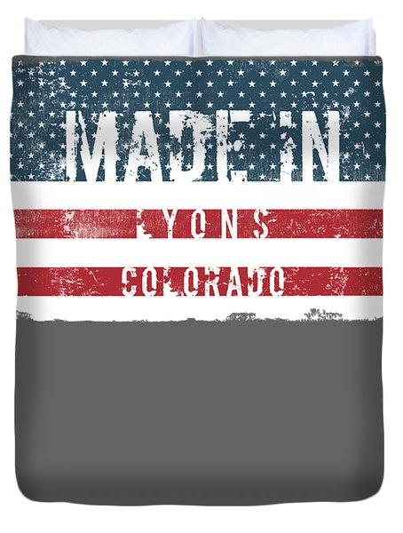 Made In Lyons, Colorado Duvet Cover
