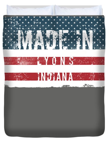 Made In Lyons, Indiana Duvet Cover