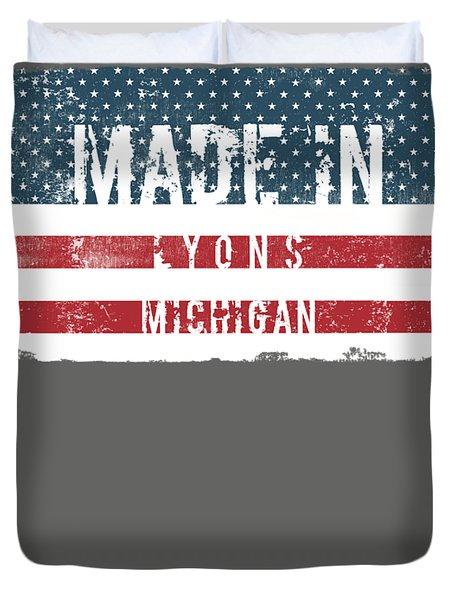 Made In Lyons, Michigan Duvet Cover