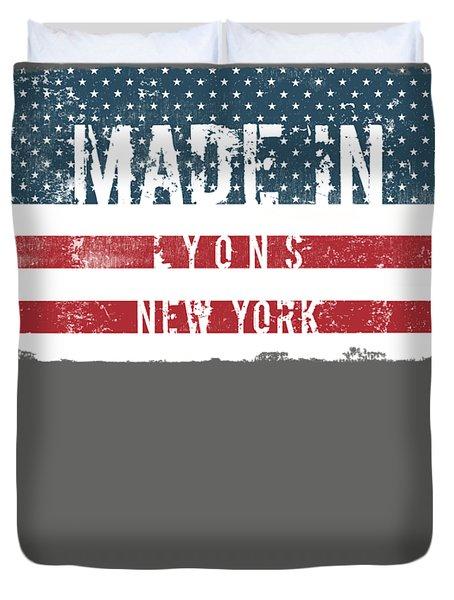 Made In Lyons, New York Duvet Cover