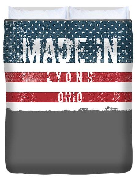Made In Lyons, Ohio Duvet Cover