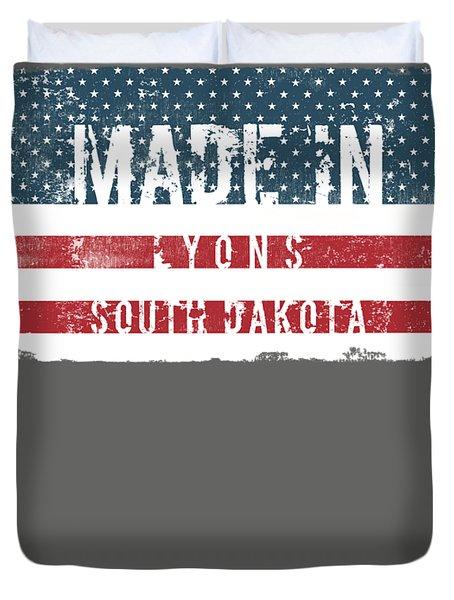 Made In Lyons, South Dakota Duvet Cover