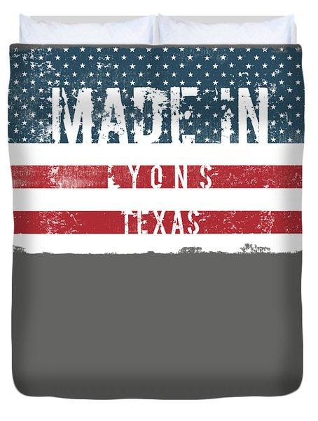 Made In Lyons, Texas Duvet Cover