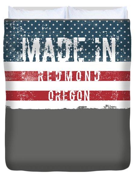 Made In Redmond, Oregon Duvet Cover