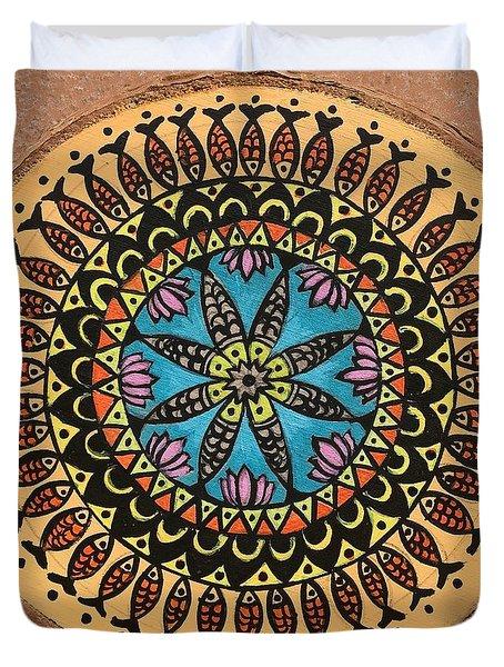 Madhubani Art Duvet Cover
