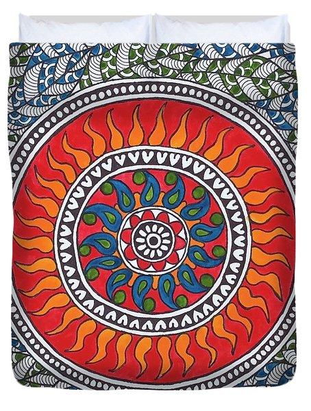 Madhubani Mandala Duvet Cover